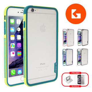 (BUNDLE SET) Kurumi Bumper Case, Front & Back Tempered Glass, Phone Ring Stent Holder