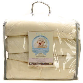 5PC SNUGGLE CRIB SET CREAM (31042)
