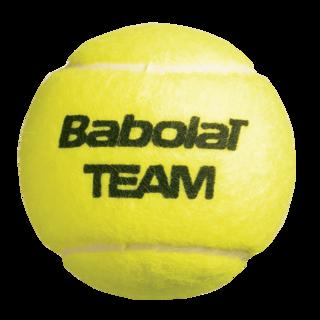 BABOLAT TEAM TENNIS BALL X 3 YELLOW (104152)