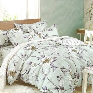 Queen's Special Linen Collection Bedsheet Set of 3 (QSBL-T125)