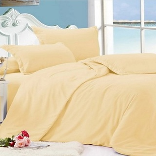 Beverly's Linen Collection Solid Plain Bedsheet Set of 3 (BPB-T-Ivory)