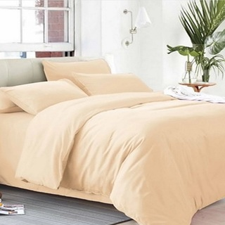 Beverly's Linen Collection Solid Plain Bedsheet Set of 3 (BPB-T-Taupe)