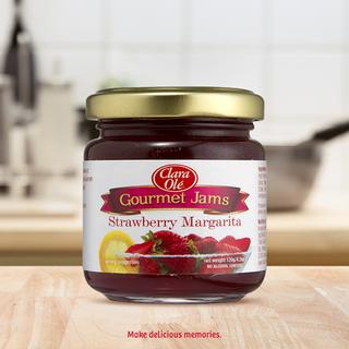 Clara Ole Gourmet Jams Strawberry Margarita 120g
