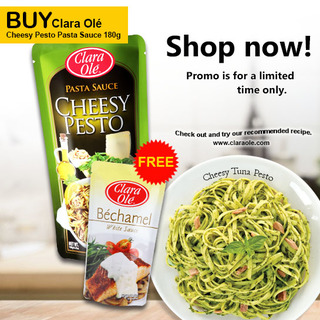 Clara Ole Cheesy Pesto Pasta Sauce 180g (CO200928)