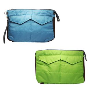 Padded Organizer Pouch Set of 2 (Blue/Green)