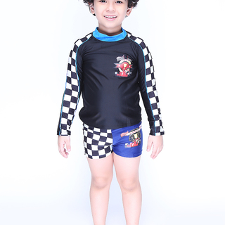 Rock Lobster Long Sleeved Rashguard (Black-0284)
