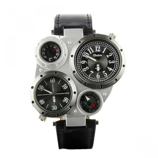 Oulm Military Army Watch With Compass - Black (LGOLMHP941BLK-0003110)
