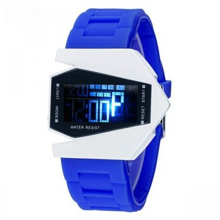 Generic Sports Watch LED Stealth Aircraft with Silicone Strap - Blue (LGGEN00001BLU-0003392)