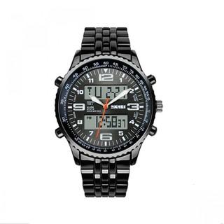Skmei 30M Waterproof Dual Mode Metal Watch - Grey Dial (LGSKMSKMEIXXX-0004251)