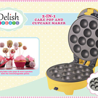 Delish Treats Cake Pop and Cupcake Maker (2 in 1)