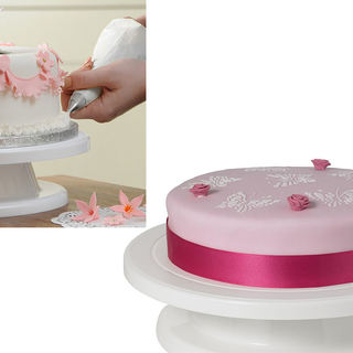 Delish Treats Cake Decorating Turn Table (White)