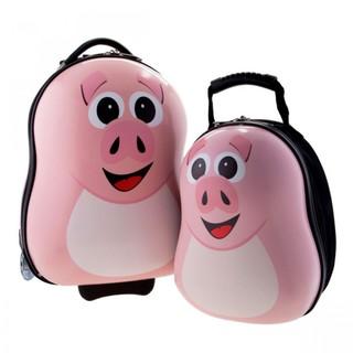 Generic Mother And Child Trolley And Backpack Hard Case Travel Bag - Pink Pig (LGGEN00001PNK-0003343)