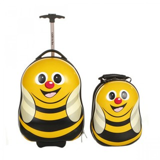 Generic Mother And Child Trolley And Backpack Hard Case Travel Bag - Yellow Bee (LGGEN00001YEL-0003339)
