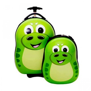 Generic Mother And Child Trolley And Backpack Hard Case Travel Bag - Green Crocodile (LGGEN00001GRN-0003340)