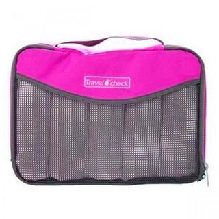 Generic Travel Check Luggage Organizer Bag – Pink (LGGEN00001PNK-0003436)