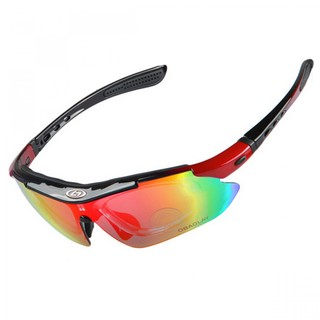 Generic Polarize Sunglasses With 4 Interchangeable Colored Lens - Red (LGGEN00001RED-0004827)