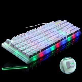 Morganstar Gigaware Midio RX-8 Dazzle Mechanical Feel Gaming Keyboard (White) GW204W