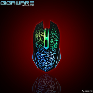 Gigaware LED Lightning Gaming Mouse (Black)