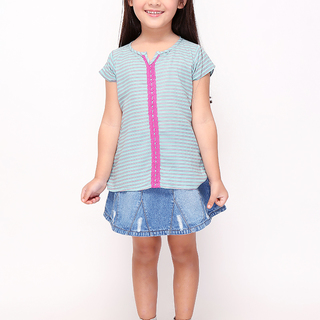 BASICS FOR KIDS GIRLS BLOUSE - GREEN (G307317-G307327)