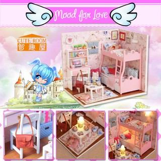 Cute Room Mood for Love Dollhouse 15.1*11.6*13.1CM