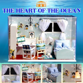 Cute Room The Heart of the Ocean Dollhouse 19.6*10*13.5CM