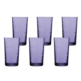 Pasabahce Steps Long Drink 265cc 9 1/4oz, Set of 6 (Purple) (52914PRP)