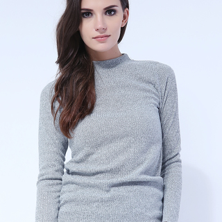 France Mock Knit Long Sleeve from Topmanila Clothing (Ice gray)