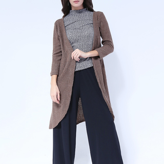 Sarah Knit Long Back Cardigan from Topmanila Clothing (brown)