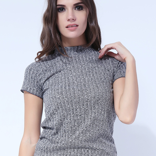 Closed Neck Short Sleeve from Topmanila Clothing (earth gray)