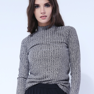 France Mock Knit Long Sleeve from Topmanila Clothing (earth gray)