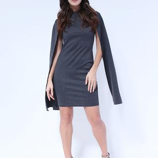 Amanda Cut-Slit Sleeve dress from Topmanila Clothing (Dark Gray)