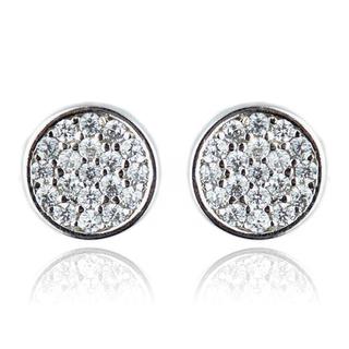 E-Rings Flat Round Earrings (ERS 00160-0110)