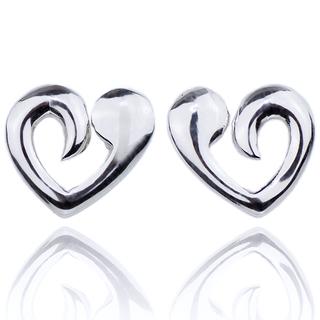 E-Rings Open Heart Stud Earrings(Silver) (ERR 00149-0110)