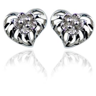 E-Rings Plumeria Heart Earrings (ERR 00276-0110)