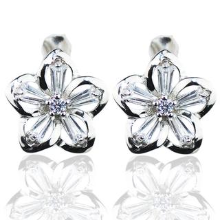 E-Rings Radiant Plumeria Earrings (ERS 00406-0110)