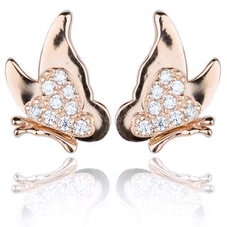 E-Rings Rose Gold Butterfly Earrings (ERG 00029-0110)