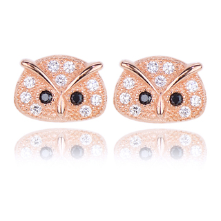 E-Rings Rose Gold Owl Earrings (ERG 00004-0110)