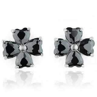 E-Rings 00221 Black Flower Earrings (Black) (ERS 00221-0110)