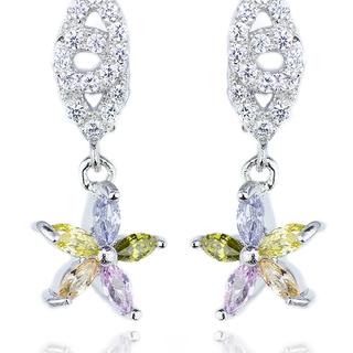 E-Rings Flower Star Clip Earrings (Silver) (EDS 00069-0110)
