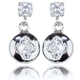 E-Rings Round Clover Drop Earrings (EDS 00113-0110)