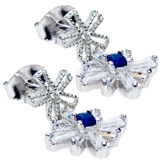 E-Rings Blue Snowflake Earrings (ERS 00408-0110)