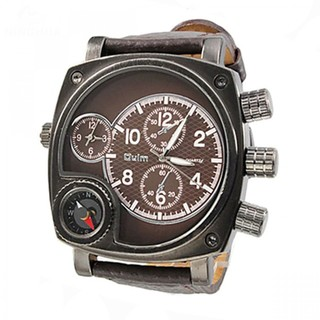 Oulm Watch with Large Dial and Compass - Brown (LGOLMHP952BRW-0003690)