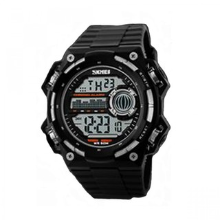 Skmei 50m Depth Waterproof Sport Digital Winder Watch - Black&Silver (LGSKM01115SLR-0004526)