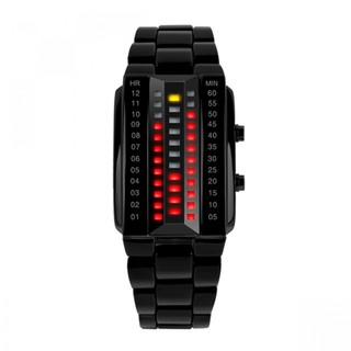 Skmei 30m Waterproof Steel Sports LED Watch - Black ( LGSKM01013BLK-0004497)