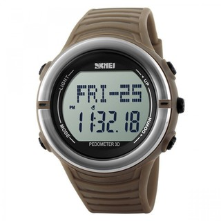 Skmei 50m Waterproof Heart Rate Monitor Pulse Watch - Brown (LGSKMSKMEIBRW-0004338)