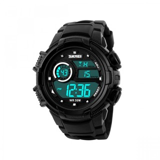 Skmei 50m Waterproof Multifunction Digital Watch with Stop Watch and Alarm Clock - Black (LGSKM01113BLK-0004502)