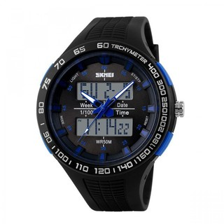 Skmei 30m Waterproof Dual Mode Watch - Blue (LGSKM01066BLU-0004298)