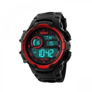 Skmei 50m Waterproof Multifunction Digital Watch with Stop Watch and Alarm Clock - Red (LGSKM01113RED-0004501)