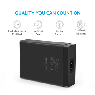 Anker 60Watts - 6Port USB Wall Charger - Black