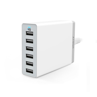 Anker 60Watts - 6Port USB Wall Charger - White